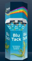 Bostik Blu Tack Dump Bin - Contains 240 Units